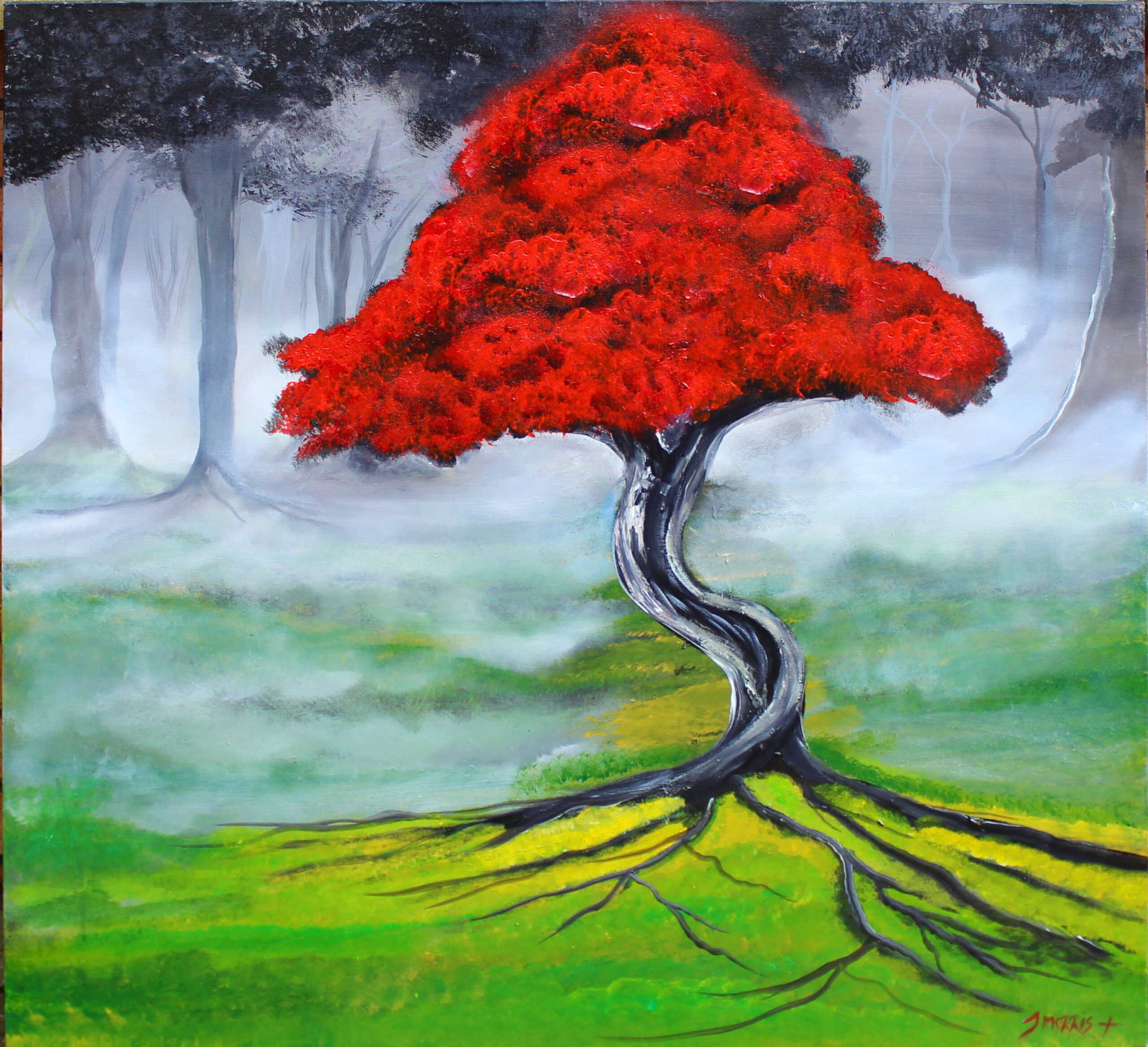 The Red Blossom Tree 2019 Sold