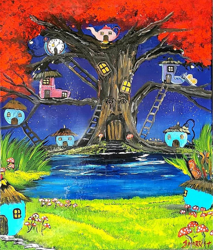 The Fairy Tree – Forest painting