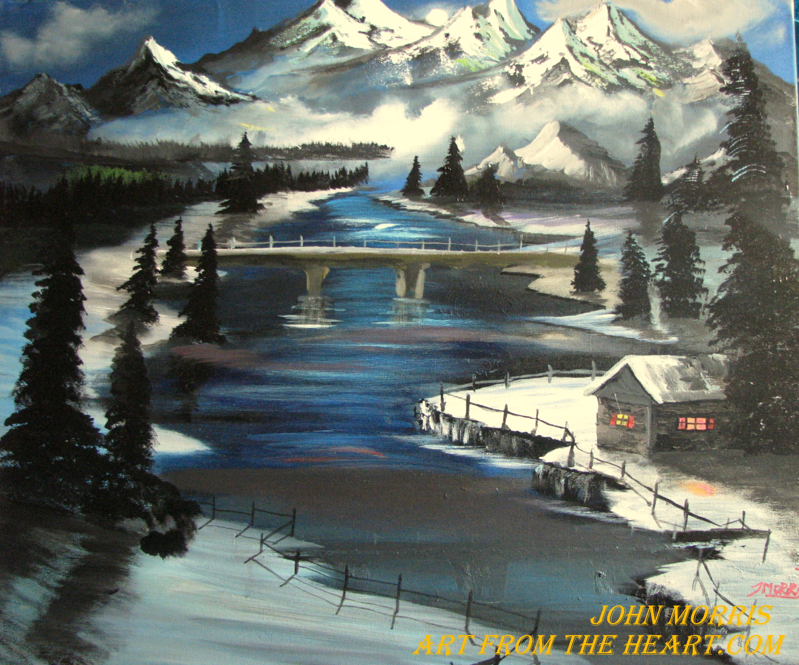 A place to rest – Mountain painting