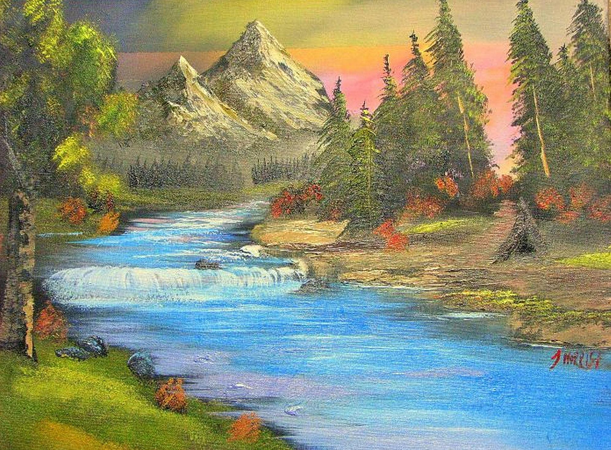 The Dreamland Express – Mountain painting – (SOLD)