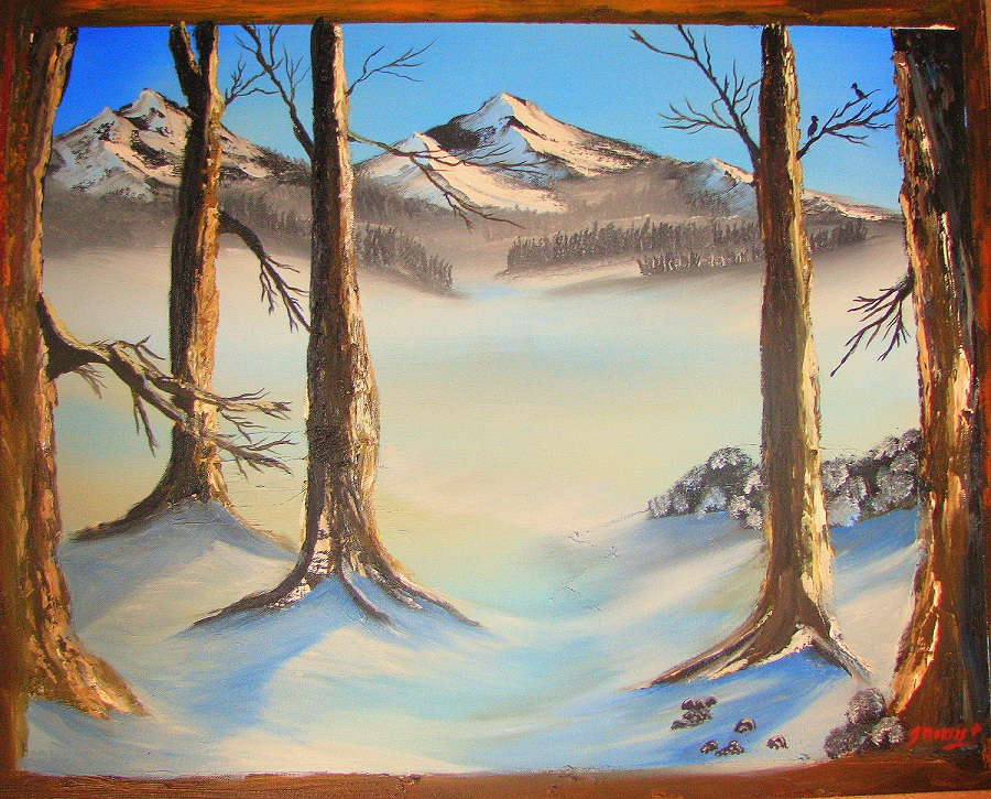 Jasper Alberta – mountain landscape painting. – Sold