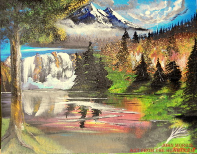 Fire in the mountains – Mountain painting – SOLD