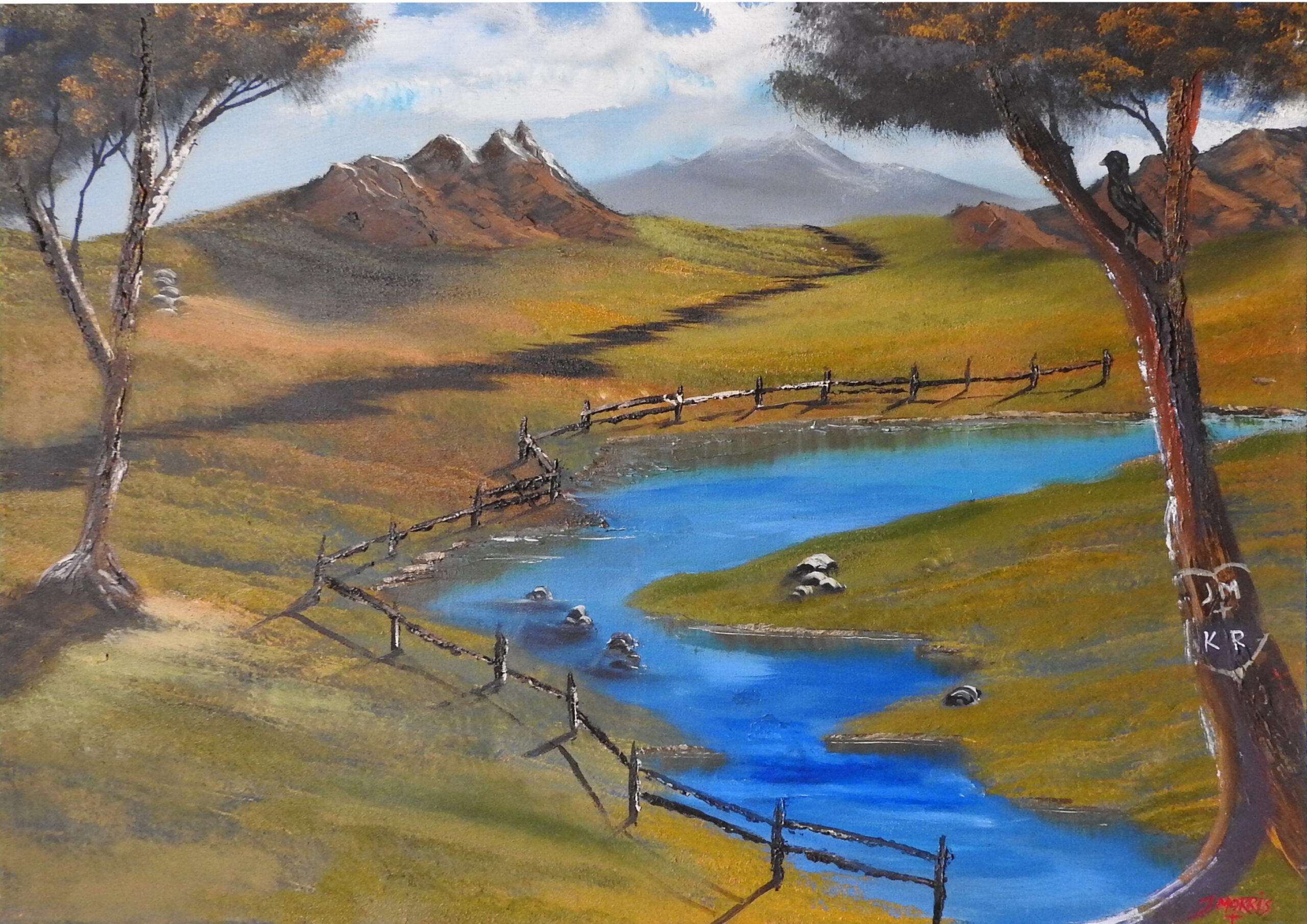Country Roads – Mountainscape painting