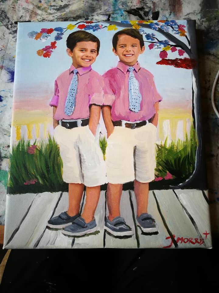 2 little boys had two little toys