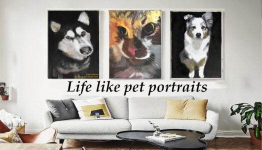 Looking for amazing and unique custom pet portraits? Then you are in the right place