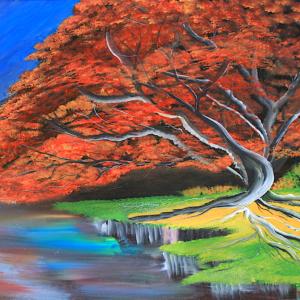 red blossom tree