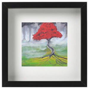 The red blossom tree